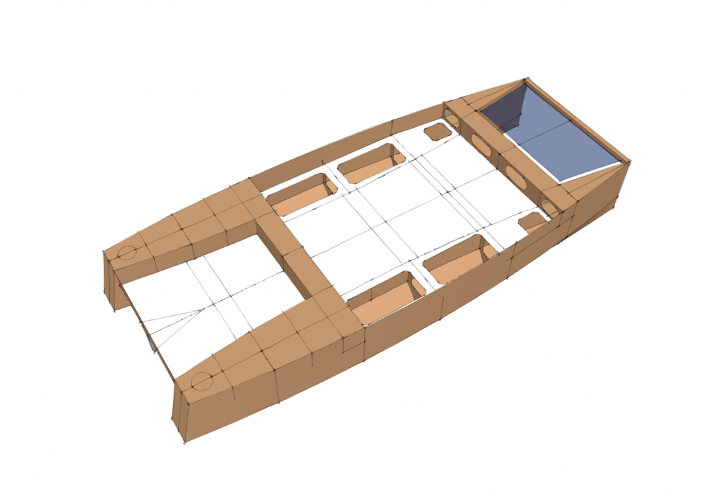 My tiny house boat - A small plywood-and-epoxy (not really